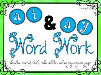 Phonics Word Work {ai, ay}