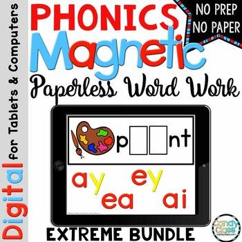 121 Digital Phonics Centers: Hands-on Paperless Word Work Activities