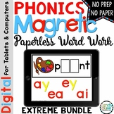121 Digital Phonics Centers Bundle: Hands-on Paperless Word Work Activities