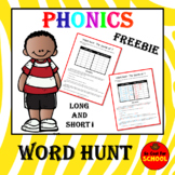 Phonics Word Work for Short and Long i