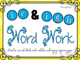 Phonics Word Work {ie, igh}