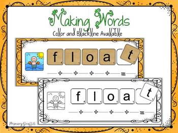 Phonics Word Work {oa, oe, ow}