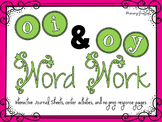 Phonics Word Work {oi, oy}