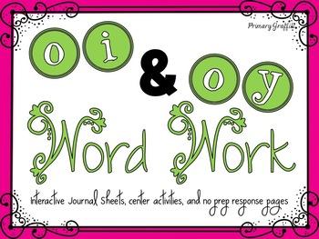 Phonics Word Work {oi, oy}