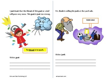 Phonics: Words ending in -unk and -ust by Anna Lian | TpT