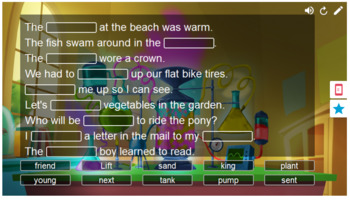 Phonics Words w/nd,ng,nk,ft,xt,mp,nt Smart Lab Interactive Whiteboard Activities
