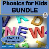 Phonics for Kids BUNDLE complements Jolly Phonics