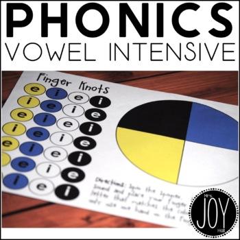 Phonics Work - Finger Knots Vowel Intensive Practice Games
