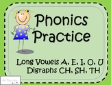 Phonics Work- Long Vowels & Digraphs