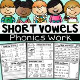 Phonics Work - Short Vowel CVC Worksheets