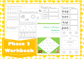 Phonics Phase 2 Letters and Sounds Workbook
