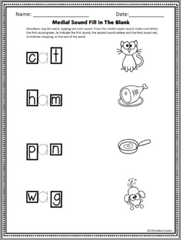 Phonics Workbook, CVC