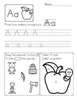 Phonics Workbook Sheets A-Z