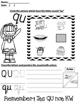 Phonics Worksheet 7 Qu Ou Oi Ue Er Ar By Mrs Ouri Tpt