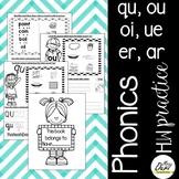 Phonics Worksheet 7 (qu, ou, oi, ue, er, ar)