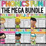 Phonics Worksheet Bundle - CVC, Long Vowels, Digraphs, Blends and More!