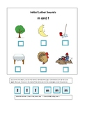 Phonics---Initial Letter Sounds Worksheets M and T for the