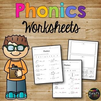 Phonics Worksheet Pack, PHONOGRAMS, Kindergarten & First Grade