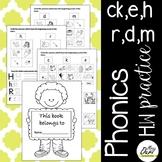 Phonics Worksheets 2 (c, k, e, h, r, d, m)
