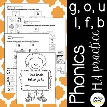 Phonics Worksheets 3 (g,o,u,l,f,b)