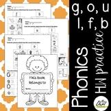 Phonics Worksheets 3 (g,o,u,l,f,b)