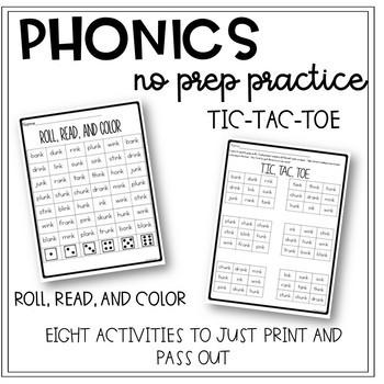 Phonics Worksheets for the Whole Year 2