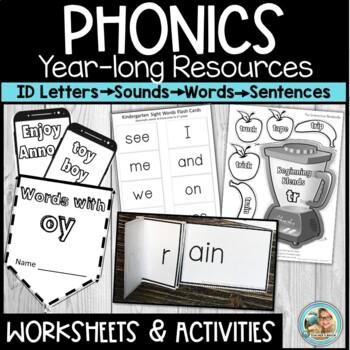 Phonics Intervention Bundle or Phonics  Program for Kindergarten - 1st Grade