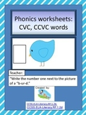 Phonics Worksheets- Blending Sounds into Words
