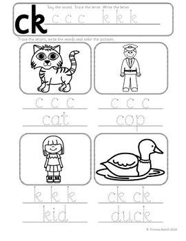 Phonics Worksheets Lesson Plan Flashcards Jolly Phonics C K Ck Lesson Pack