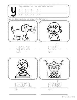 Phonics Worksheets Lesson Plan Flashcards Jolly Phonics Letter Y Lesson Pack