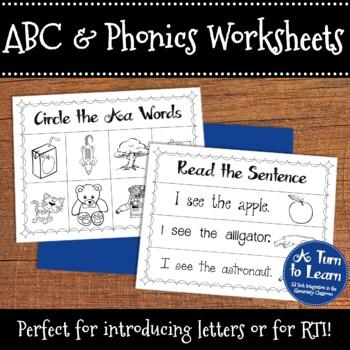 Phonics Worksheets Mega-Pack (367 Pages - 13 Per Letter!)