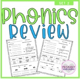 Phonics Worksheets Blends Digraphs Short Vowels Review Dis