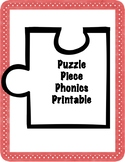 Phonics Worksheets Puzzle Pieces: Freebie