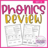 Phonics Worksheets Review Long Vowels Silent -e Soft C Sof