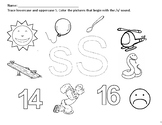 Phonics Worksheets (x10). Letters: S, A, T, P, I, N, M, D, G and O.