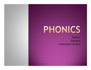 Phonics Worksheets (Silent e, digraphs, consonant clusters/blends)