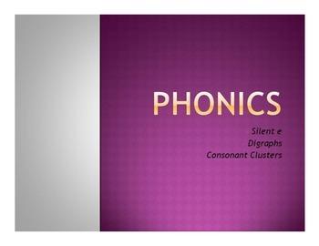 Phonics Worksheets (Silent e, digraphs, consonant clusters/blends)