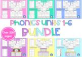 Phonics Worksheets Units 1-6 BUNDLE