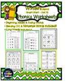 Phonics Worksheets - Wonders (Aligned) Kindergarten