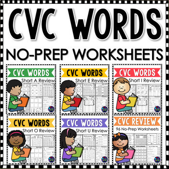 Phonics Worksheets and Activities BUNDLE: CVC, CVCE, Digraphs, and Blends