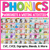 Phonics Worksheets and Activities: CVC, CVCE, Digraphs, Bl
