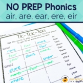 Phonics Worksheets and Activities for /air/ | No Prep Phonics