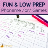 Phonics Worksheets and Activities for /or/ and /aw/ sounds