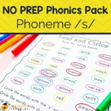Phonics Worksheets and Activities for /s/ Sound | No Prep Phonics