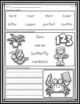 Phonics Worksheets and Phonics Based Fluency~ Unit 4