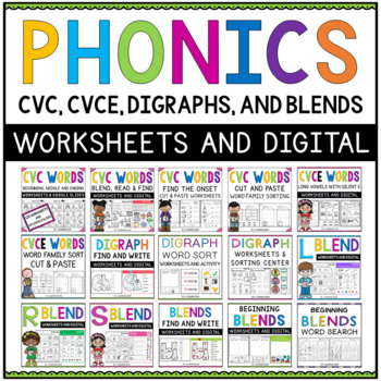 Phonics Worksheets First Grade Teachers Pay Teachers