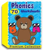 Phonics Worksheets for Kindergarten (70 Worksheets)