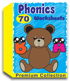 Phonics Worksheets for Kindergarten (70 Worksheets)