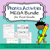 Phonics Worksheet and Activity Bundle for First Grade - Fu