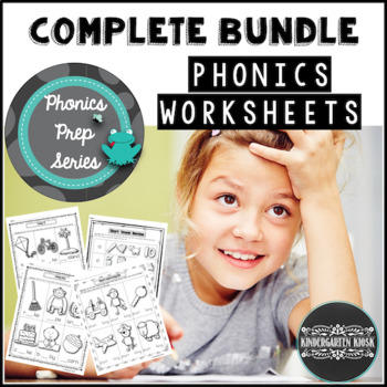 Phonics Worksheets or Workbook Bundle